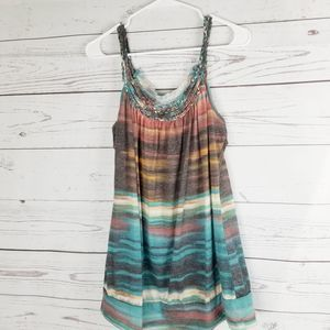 Maurices Western Boho Tank Plus Size 2x Multicolor